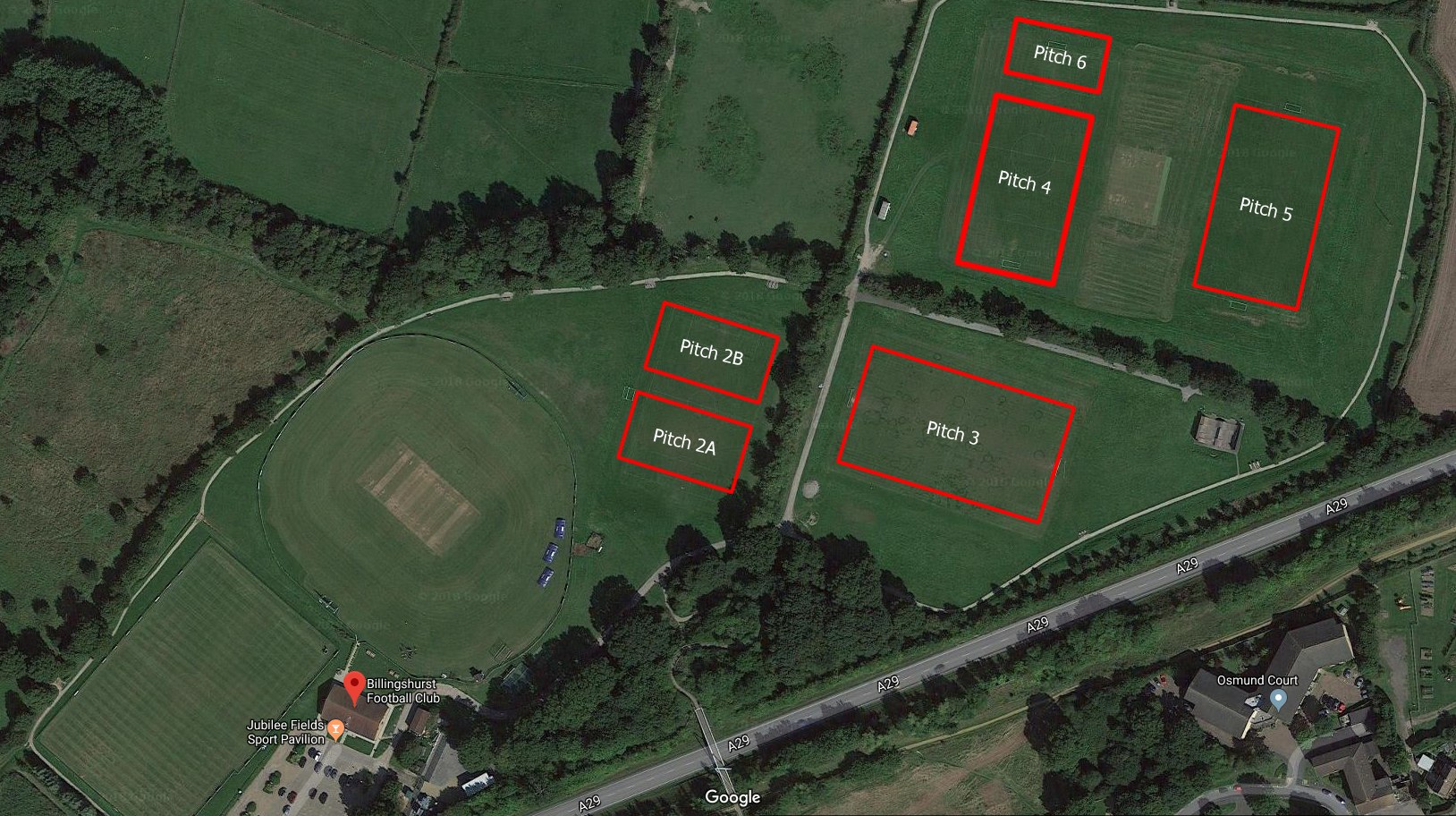 BYFC Pitch Layout